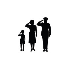 soldier family salut