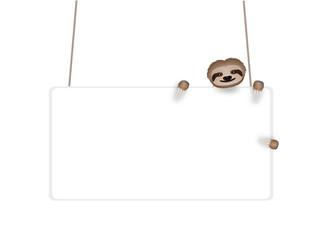 Cartellone con bradipo