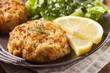 Leinwanddruck Bild - Organic Homemade Crab Cakes