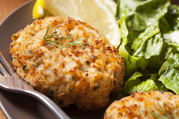 Organic Homemade Crab Cakes