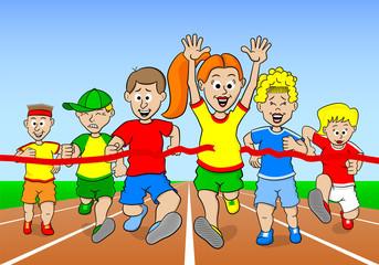 Läufer auf dem Weg ins Ziel