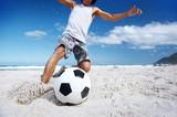 Fototapety soccer skill beach