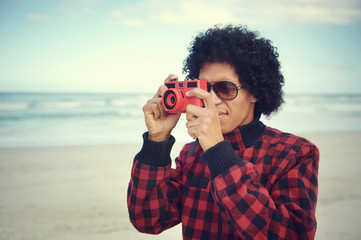 Hipster camera man