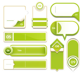 Modern infographics options banner set