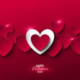 Fototapety Bright Valentine`s day background