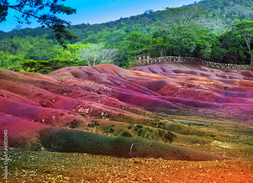 Main sight of Mauritius- Chamarel- seven color lands - 60030411