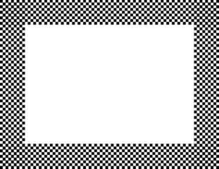 Black and White Checkered Frame