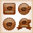 coffee glossy labels
