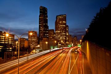 Seattle City at dusk.