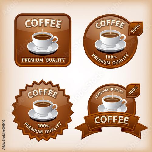 coffee glossy icons