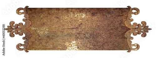 rust metal nameplate. Design element - 60032288