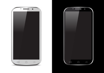 Black / White Mobile / Tablet / Smartphone Vector Illustration