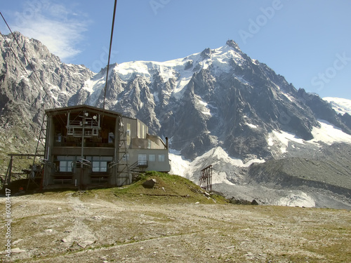 Travelling to Aiguille du midi near Mont Blanc in France