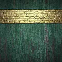 a wooden background with a gold stripe texture of the brick