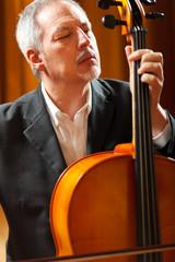 Man playing viola