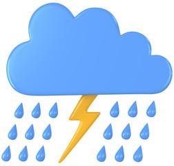 Gewitterwolke mit Regen