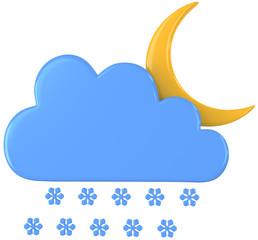 Mond Schneefall