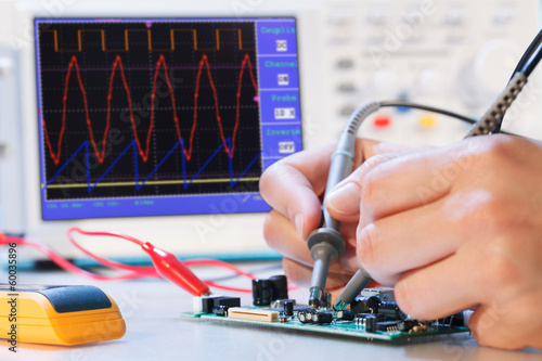 Leinwanddruck Bild development of an electronic micro processor