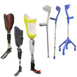 artificial limbs and invalid walking sticks