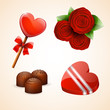 St Valentine`s day icons set