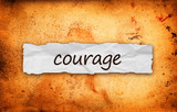 Courage title on piece of paper