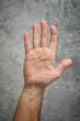 Caucasian Open hand