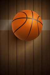 Basketball ball on floor