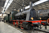 Old Steam train on the railway station