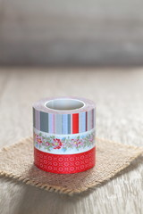Decorated washi tapes