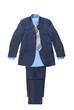 blue male striped suit