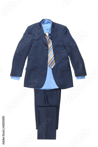 blue male striped suit