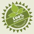 Natural ingredients label