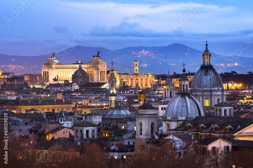 Plexiglas Rome Vue des toits de Rome