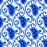 Vintage paisley porcelain seamless background