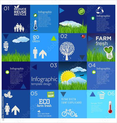 Modern blue design template