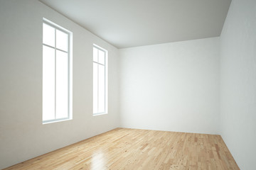 Windows in empty room