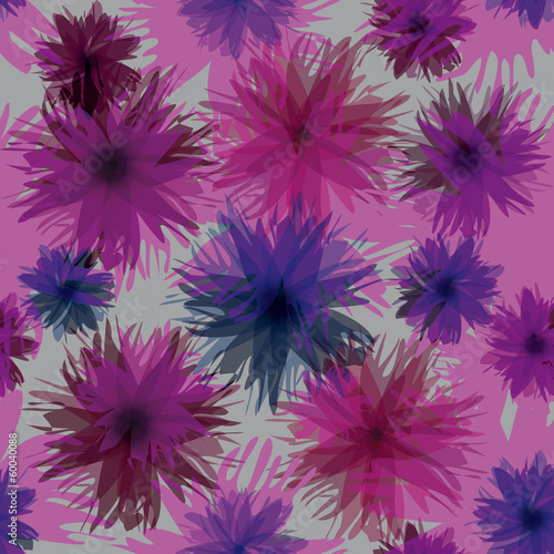 Colorful trendy blooms / Abstract floral wrapping paper