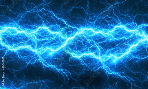 Blue abstract lightning