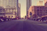 Fototapety Chicago Bridge - Vintage Picture Effect
