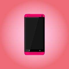 Smartphone Vektor Pink
