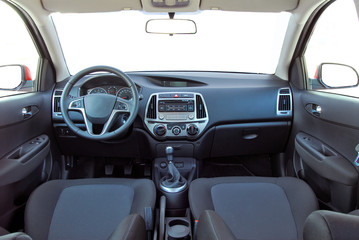 studio shot passenger car interior