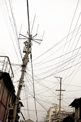 cables in Chinese city