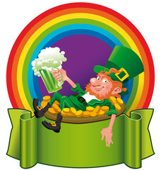 A Leprechaun in the rainbow
