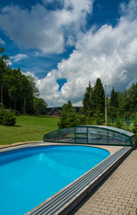 pool under the summer sky