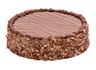 Fine milk Chocolate torte - cake with striped top