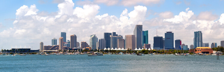 City of Miami, Florida panorama cityscape of downtown