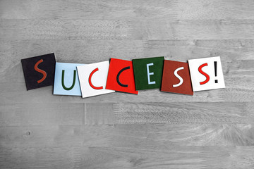 Success, sign series for successful business & achievement