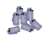 Stack of Tear Gas Grenades on White Background
