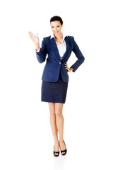 Portrait of beautiful business woman.
