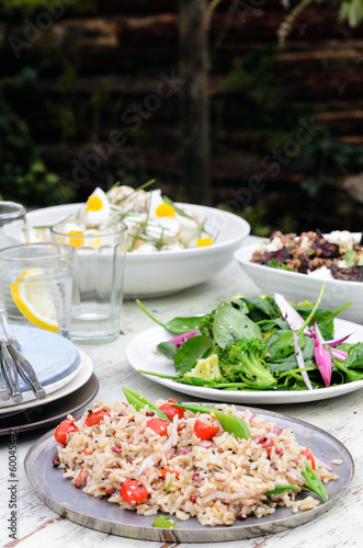 Assortment of salad sides for lunch party